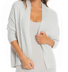 Barefoot Dreams Cable Shrug Silver Pearl