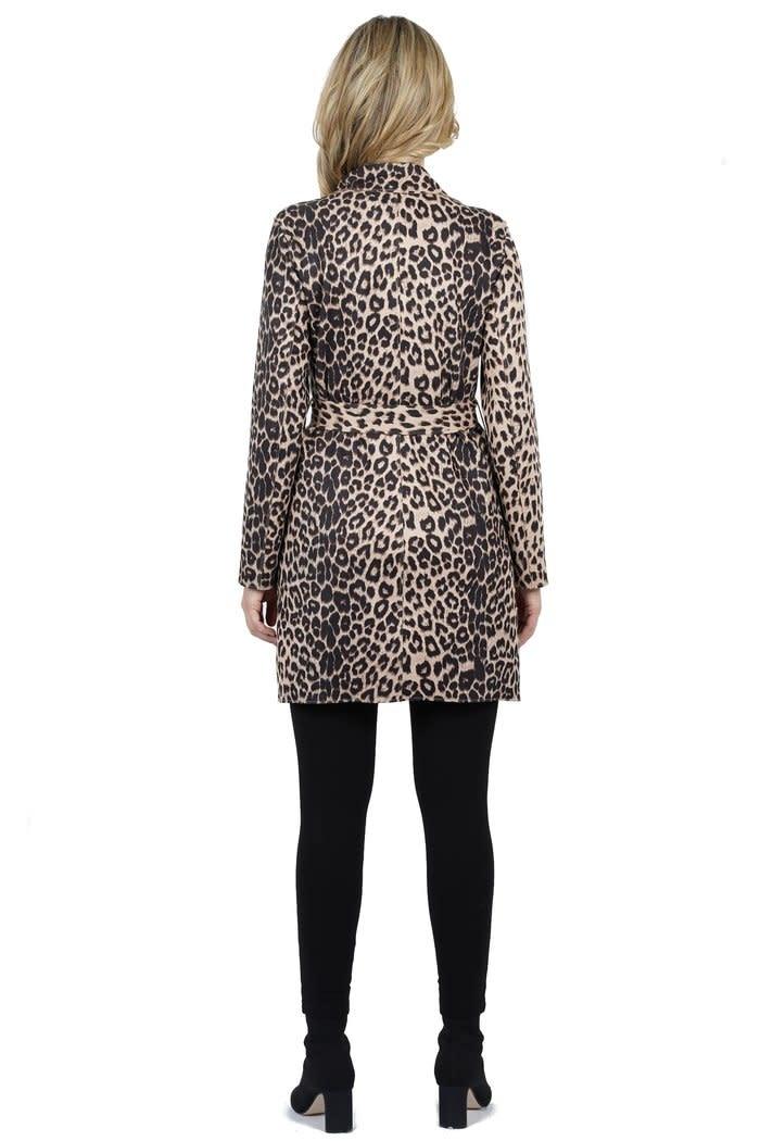 Love Token Malaysia Suede Leopard Coat