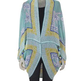 Blank Aravelio Kimono/Cover Up Aqua