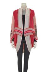 Blank Aravelio Kimono/Cover Up Red