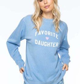 Sub Urban Riot Favorite Daughter Sweatshirt Light Blue