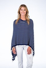 Caroline Grace Cotton Cashmere Stripe Tassel Topper