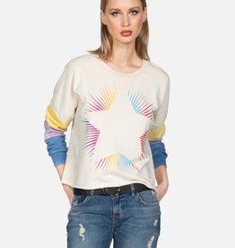 Lauren Moshi Rainbow Starburst Pullover