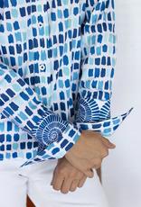 Dizzy Lizzie Rome Shirt Chiclet Blue