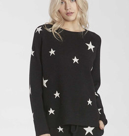 Another Love Waylynn Star Pullover Black
