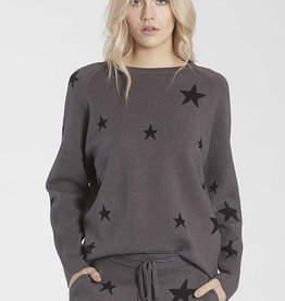 Another Love Waylynn Star Pullover Charcoal