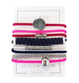 By Lilla Bracelet/Hair Tie Stack Big Spender