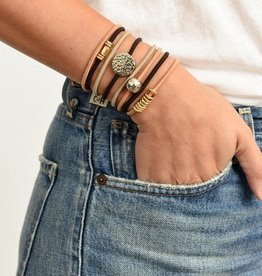 By Lilla Bracelet/Hair Tie Stack Chocolate Eclaire