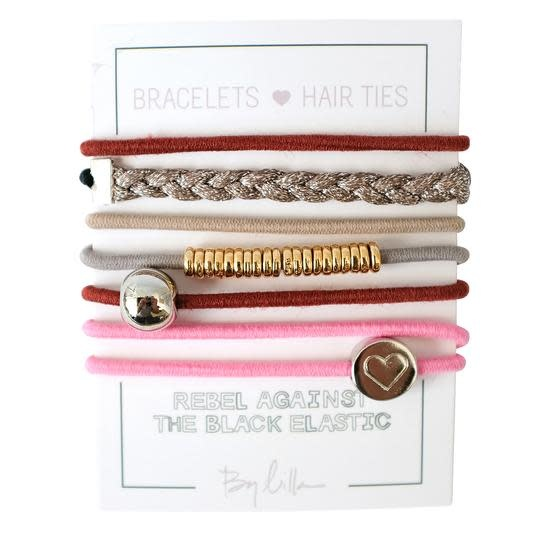 By Lilla Bracelet/Hair Tie Stack French Kiss