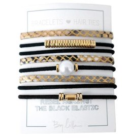 By Lilla Bracelet/Hair Tie Stack Good As Gold