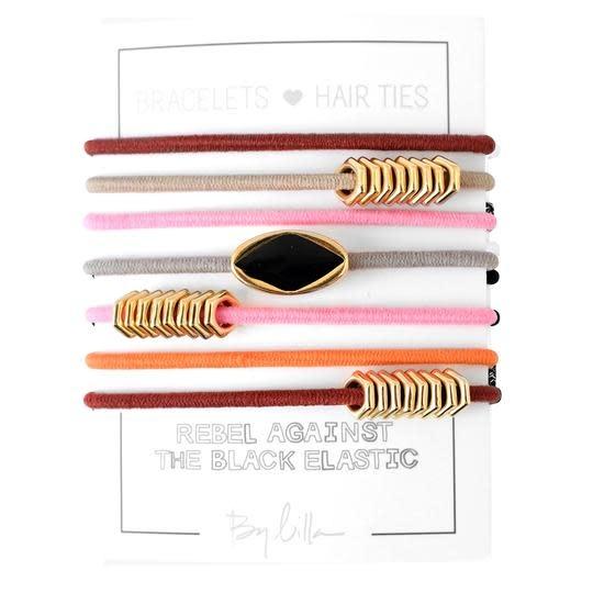 By Lilla Bracelet/Hair Tie Stack Lipstick