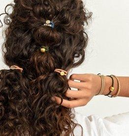 By Lilla Bracelet/Hair Tie Stack Pistachio