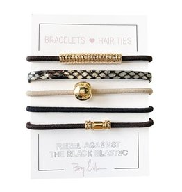 By Lilla Bracelet/Hair Tie Mini Stack Downtown