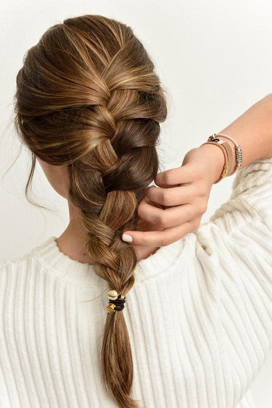 By Lilla Bracelet/Hair Tie Mini Stack Sand