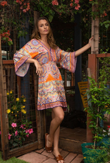 Hale Bob Kimono Sleeve Dress Orange