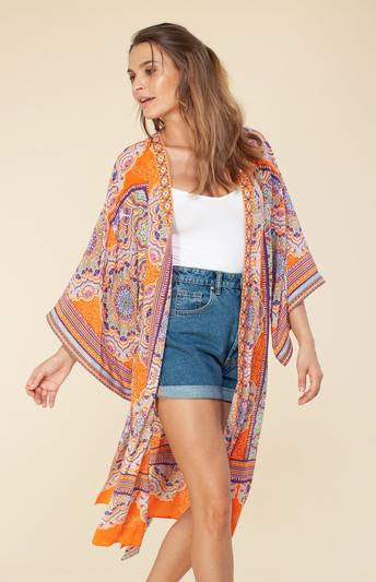 Hale Bob Kimono w/ Belt Orange
