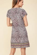 Hale Bob Short Sleeve Beaded Dress
