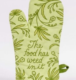 Blue Q The Food Has Weed In It Oven Mitt