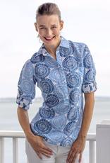 Dizzy Lizzie Cannes Shirt Blue Swirl