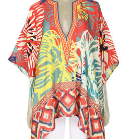 Blank Rezania Cover Up/Top Coral