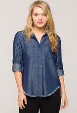 Velvet Heart Riley Denim Fringe Shirt
