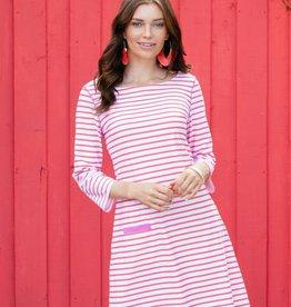 Cabana Life Stripe Shift Dress Coral