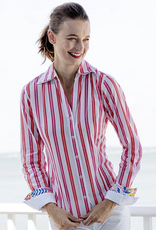 Dizzy Lizzie Vero Shirt Stripes Pink Orange