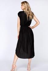 Bobi Black Twist Front Dress