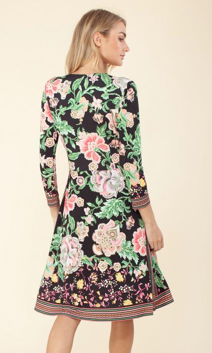 Hale Bob V Neck Dress Floral