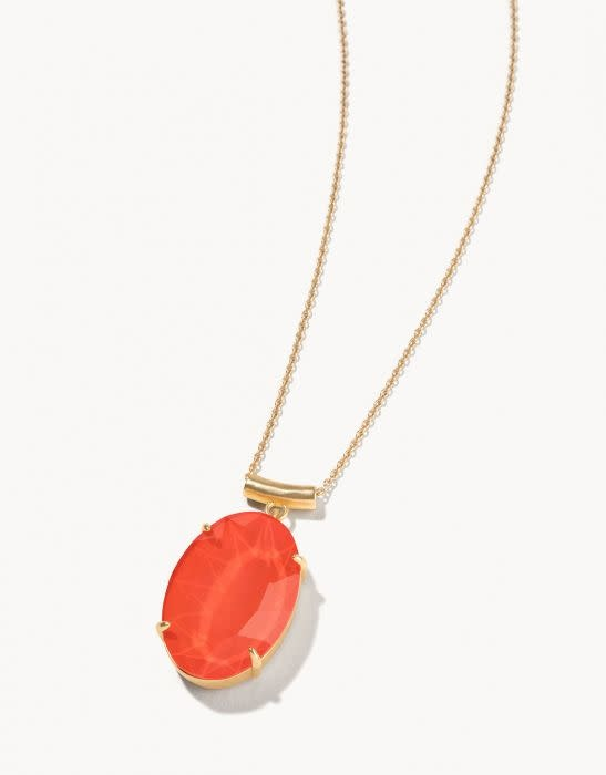 Spartina Mermaid Glass Oval Slide Necklace
