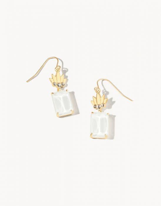 Spartina Mermaid Glass Pineapple Earrings
