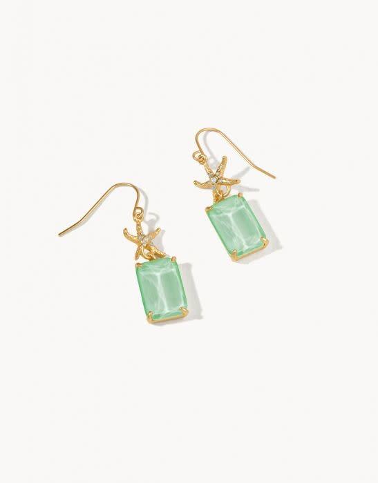 Spartina Mermaid Glass Starfish Earrings