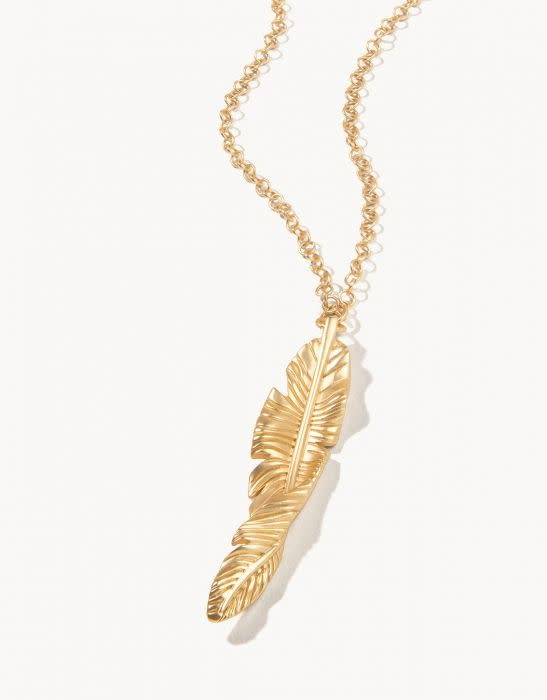 Spartina Cabana Leaf Necklace Gold 32""