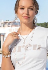 Spartina Coin Pearl Layering Necklace 36""
