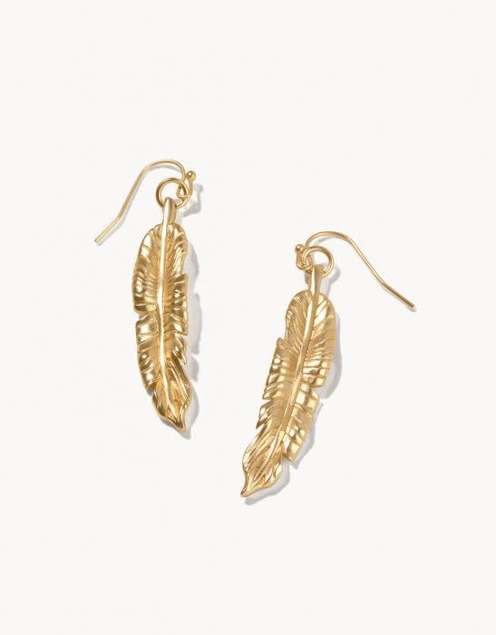 Spartina Cabana Leaf Earrings Gold