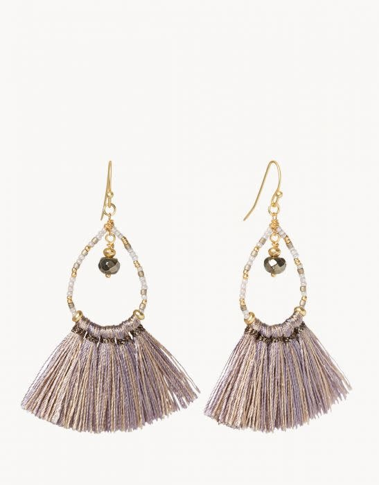 Spartina Fringe Earring Taupe