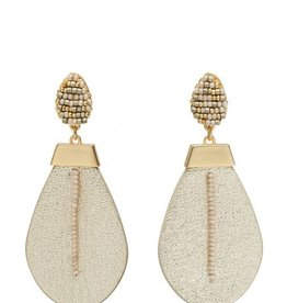 Spartina Beaded Leather Earrings