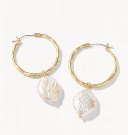 Spartina Pearl Drop Hoop Earrings