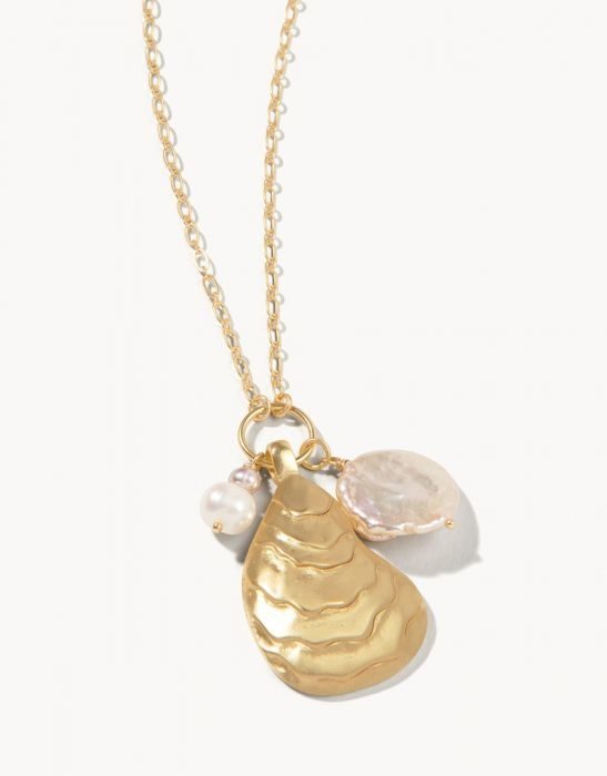 """Spartina Oyster Necklace 32"""""""