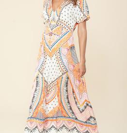 Hale Bob S/S V Neck Maxi Dress