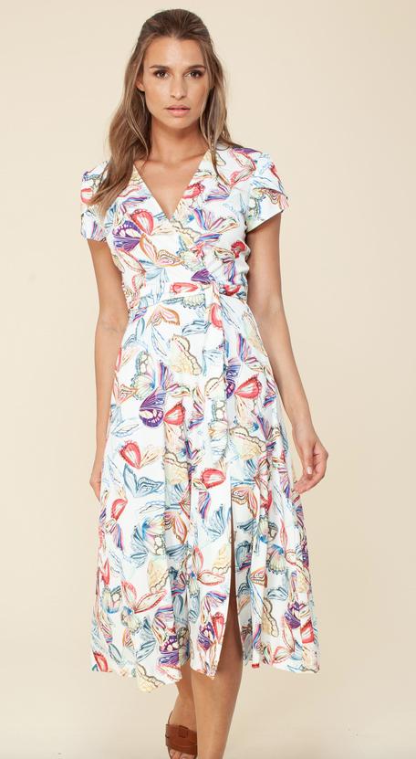 Hale Bob Faux Wrap Dress