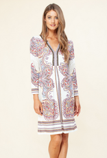 Hale Bob L/S V Neck Dress Ivory