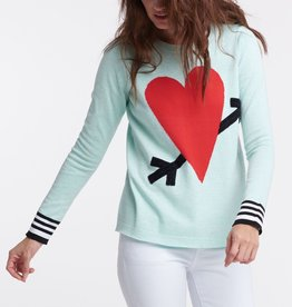 Lisa Todd Straight Arrow Knit Top Mint Combo