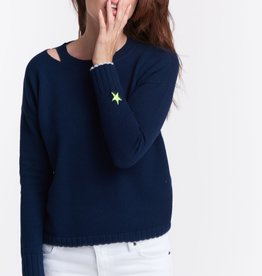 Lisa Todd Shooting Star Knit Top Navy