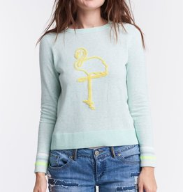 Lisa Todd Flamingo Knit Top Mint