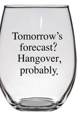Buffalovely Tomorrow's Forecast Stemless Wine Glass