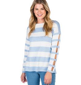 Caroline Grace Chill Knit Top Blue