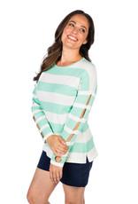 Caroline Grace Chill Knit Top Mint