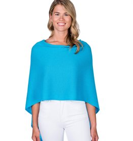 Claudia Nichole Cashmere Topper Turquoise