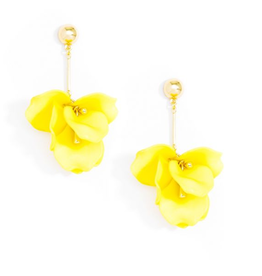 Jewelry Painted Petals Earring Yellow